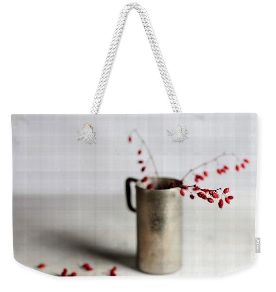 Still Life With Red Berries Weekender Tote Bag