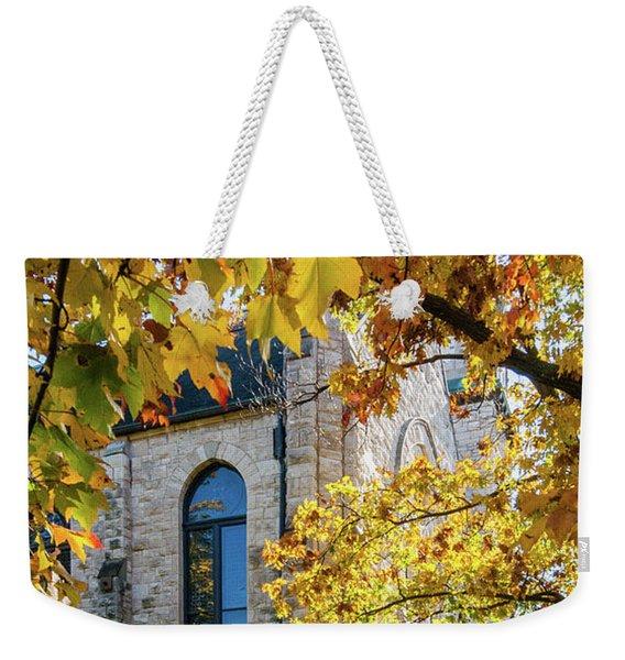 Stone Chapel Fall Weekender Tote Bag