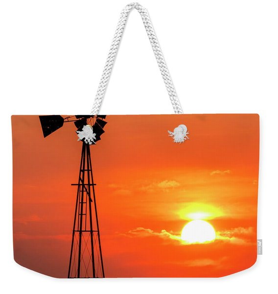 Sunrise And Windmill 02 Weekender Tote Bag