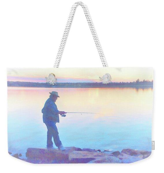 Sunrise Fisherman Weekender Tote Bag