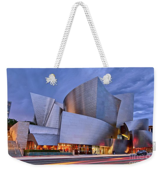 Sunset At The Walt Disney Concert Hall In Downtown Los Angeles. Weekender Tote Bag