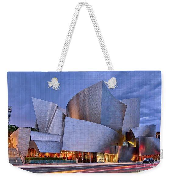 Sunset At The Walt Disney Concert Hall In Downtown Los Angeles. Weekender Tote Bag