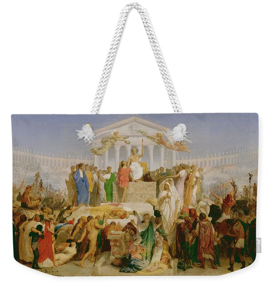 The Age Of Augustus, The Birth Of Christ Weekender Tote Bag