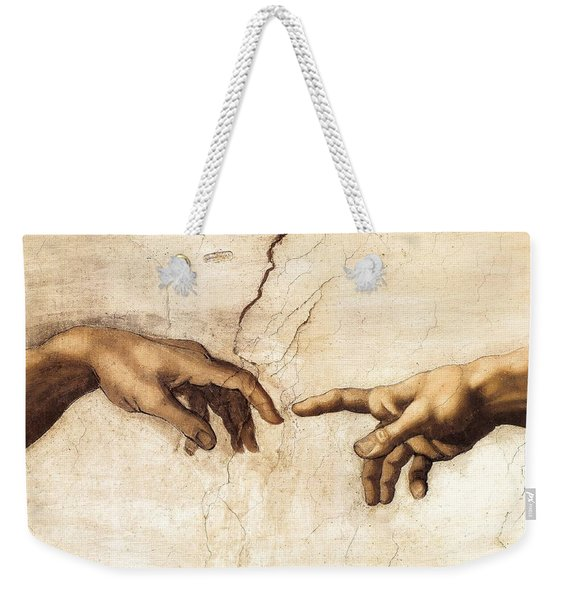 The Creation Of Adam Weekender Tote Bag