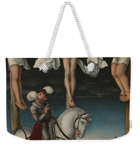 The Crucifixion With The Converted Centurion Weekender Tote Bag