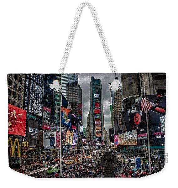 Times Square Nyc Weekender Tote Bag