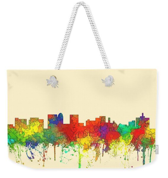 Topeka Kansas Skyline Weekender Tote Bag