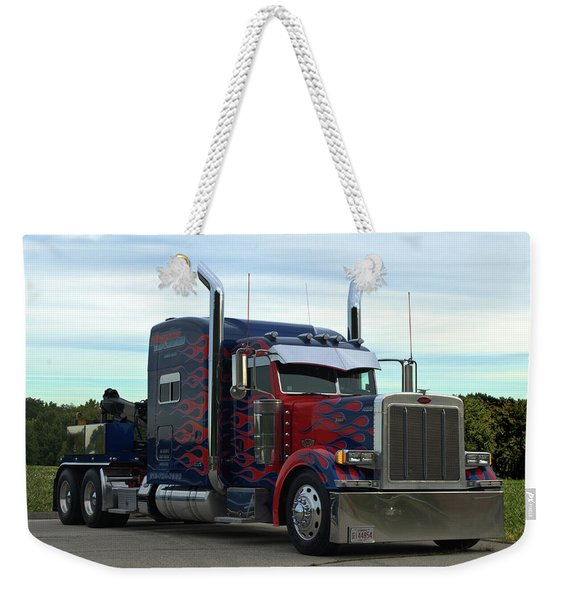 Transformers Optimus Prime Tow Truck Weekender Tote Bag