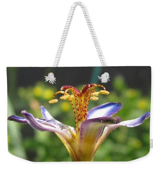 Tricyrtis Named Taipei Silk Weekender Tote Bag