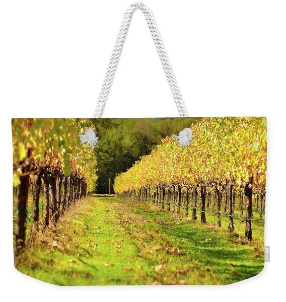 Vineyard In The Fall Weekender Tote Bag