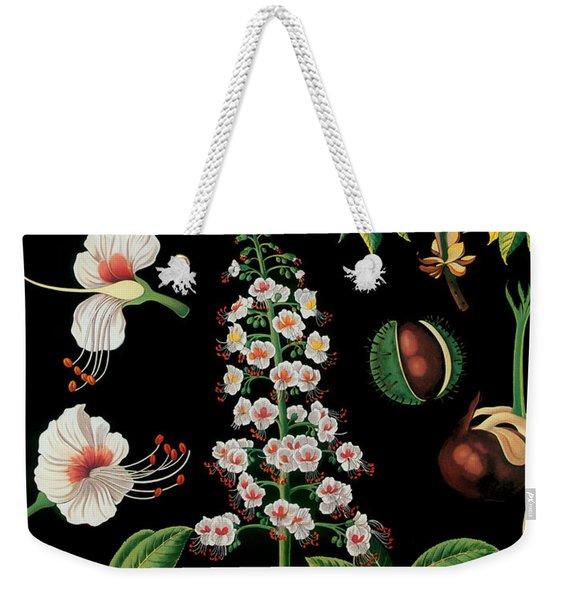Vintage Botanical Weekender Tote Bag