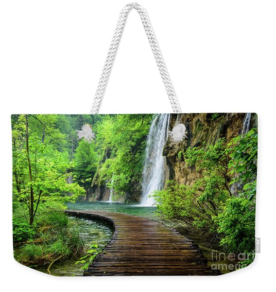 Walking Through Waterfalls - Plitvice Lakes National Park, Croatia Weekender Tote Bag