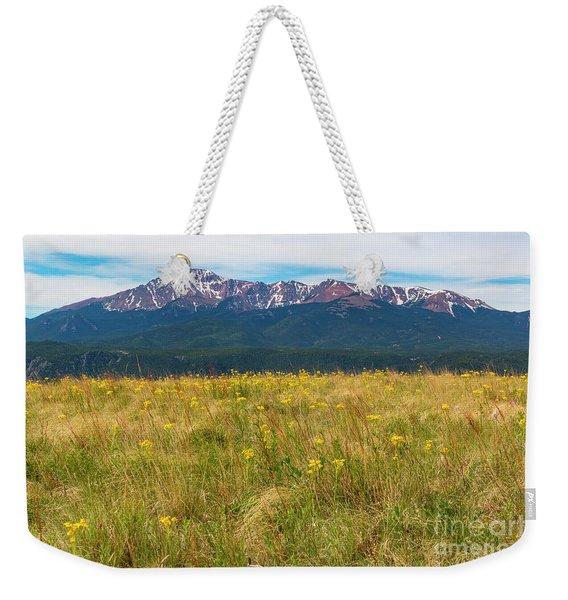 Wildflowers And Pikes Peak Weekender Tote Bag