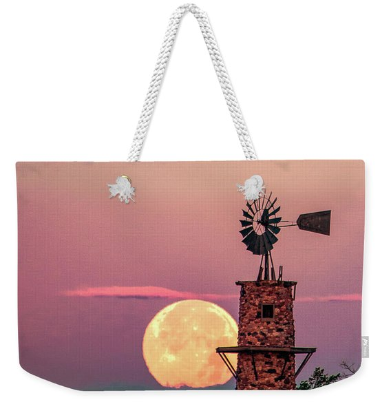 Windmill At Moonset Weekender Tote Bag