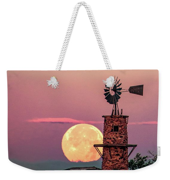 Windmill At Moonset Weekender Tote Bag