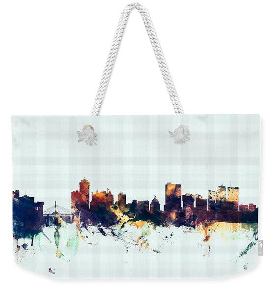 Winnipeg Canada Skyline Weekender Tote Bag