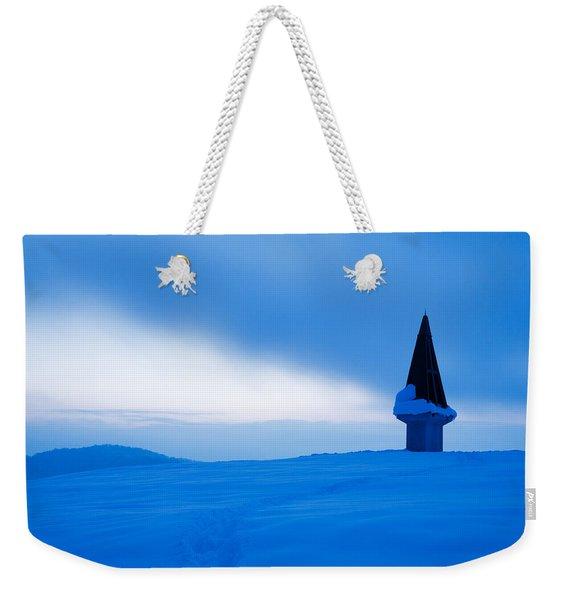 Winter Dusk Weekender Tote Bag