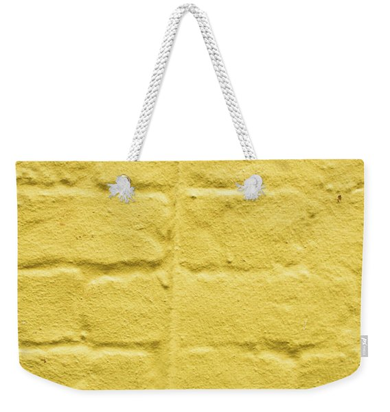Yellow Brick Wall Weekender Tote Bag