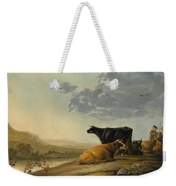 Young Herdsmen With Cows Weekender Tote Bag