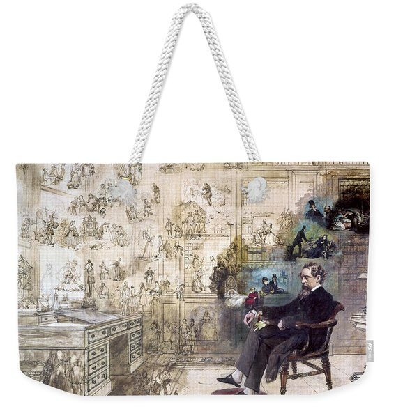 Charles Dickens 1812-1870.  To License For Professional Use Visit Granger.com Weekender Tote Bag