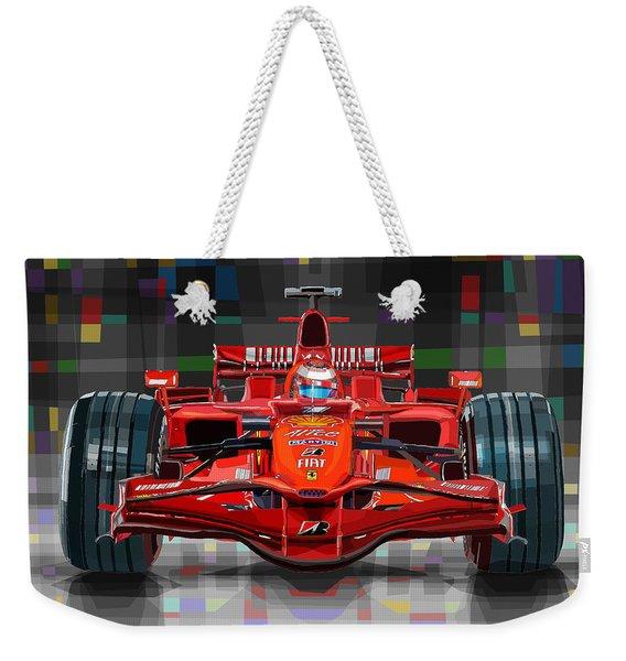 2008 Ferrari F1 Racing Car Kimi Raikkonen Weekender Tote Bag