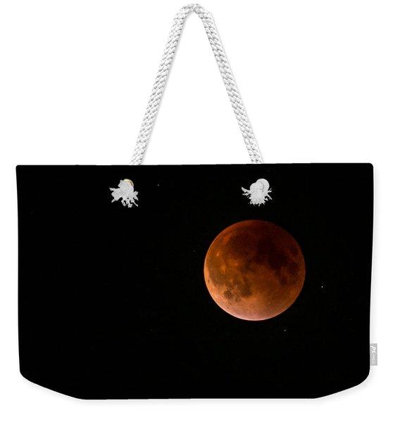 2015 Blood Harvest Supermoon Eclipse Weekender Tote Bag