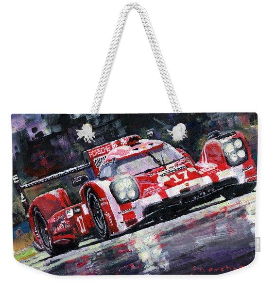 2015 Le Mans 24h Porsche 919 Hybrid Weekender Tote Bag