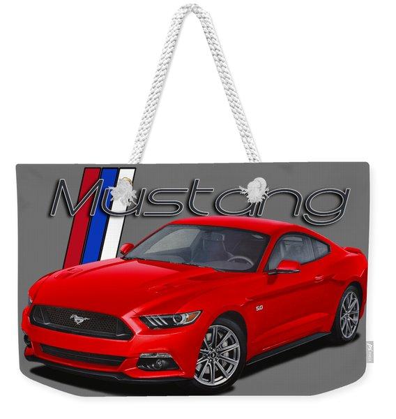 2015 Red Mustang Weekender Tote Bag