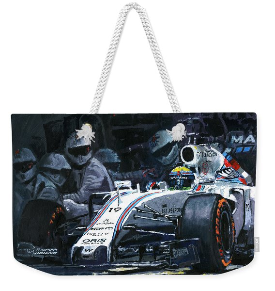2015 Williams Fw37 F1 Pit Stop Spain Gp Massa  Weekender Tote Bag