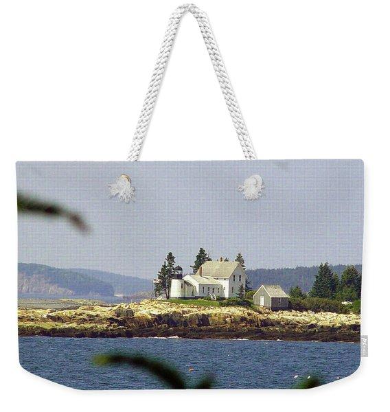 2015 Winter Harbor Light Weekender Tote Bag
