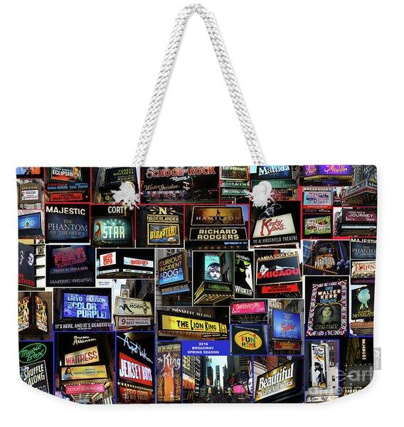 2016 Broadway Spring Collage Weekender Tote Bag