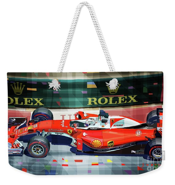 2016 Ferrari Sf16-h Vettel Monaco Gp  Weekender Tote Bag