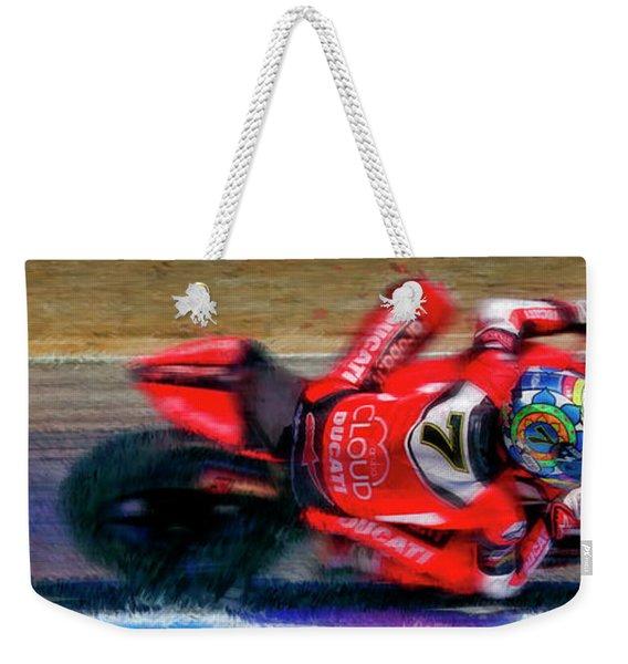 2016 Fim Superbike Chaz Davies Weekender Tote Bag