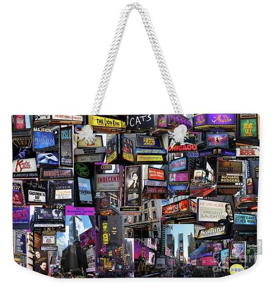 2017 Broadway Spring Collage Weekender Tote Bag