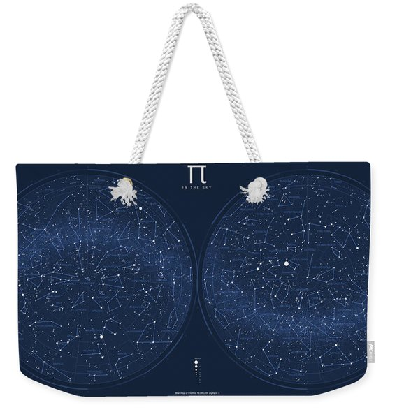 2017 Pi Day Star Chart Azimuthal Projection Weekender Tote Bag