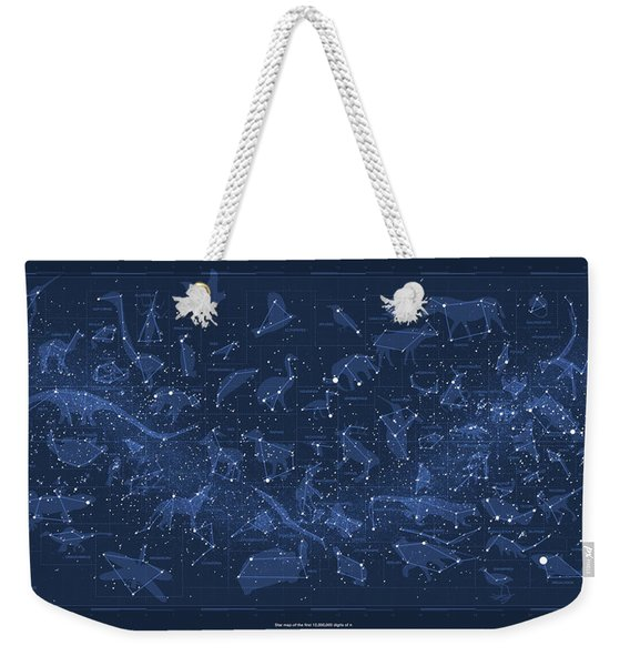 2017 Pi Day Star Chart Carree Projection Weekender Tote Bag