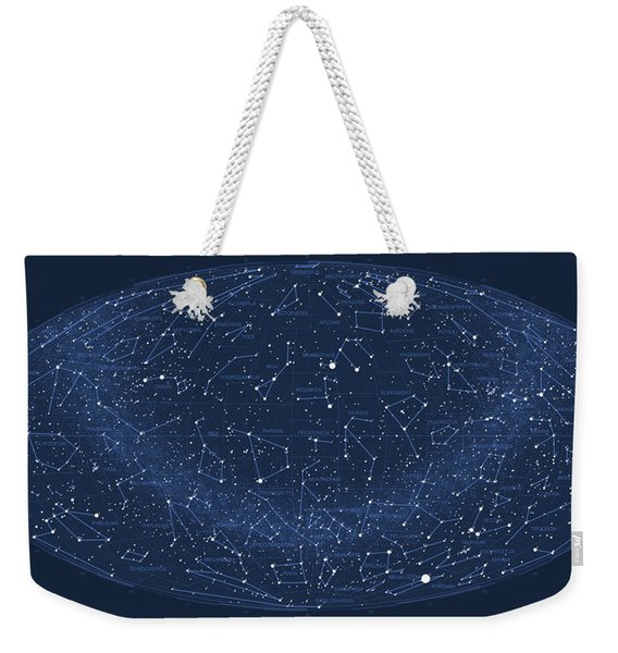 2017 Pi Day Star Chart Hammer/aitoff Projection Weekender Tote Bag