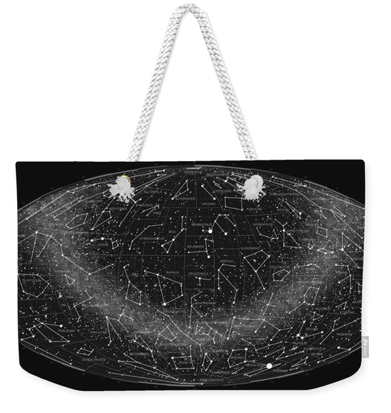 2017 Pi Day Star Chart Hammer Projection Weekender Tote Bag