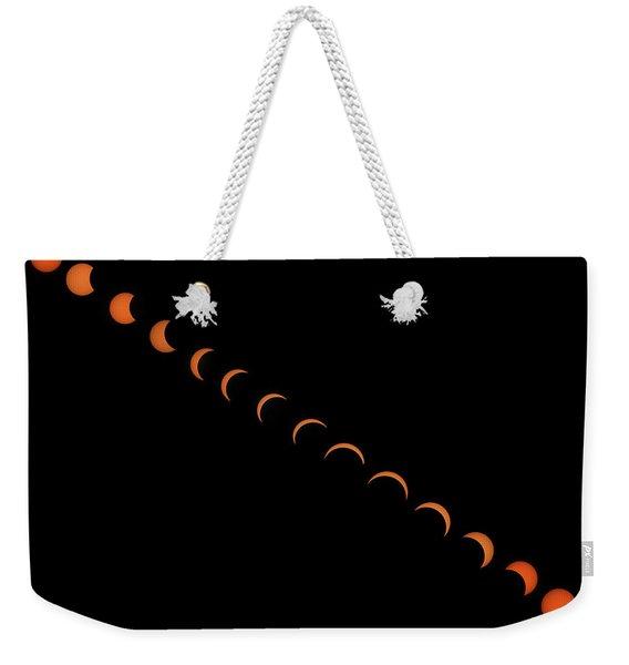 2017 Solar Eclipse Weekender Tote Bag