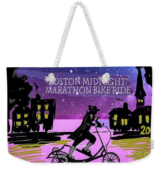 2018 Boston Marathon Midnight Ride Weekender Tote Bag