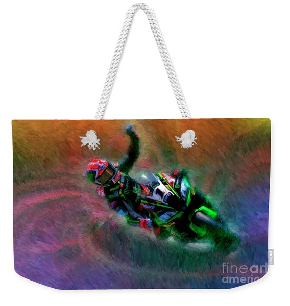 2018 World Superbike Jonathan Rea Victory Punch Weekender Tote Bag