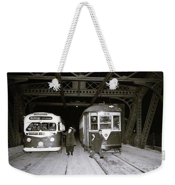 207th Street Crosstown Trolley Weekender Tote Bag