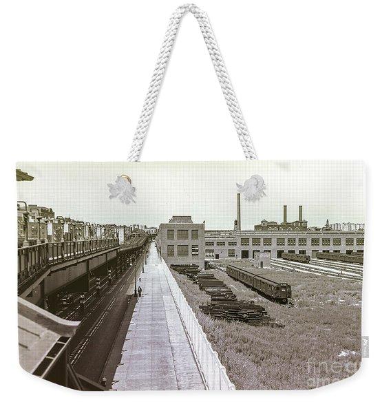 207th Street Subway Yards Weekender Tote Bag