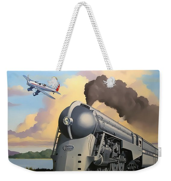20th Century Limited And Plane Weekender Tote Bag