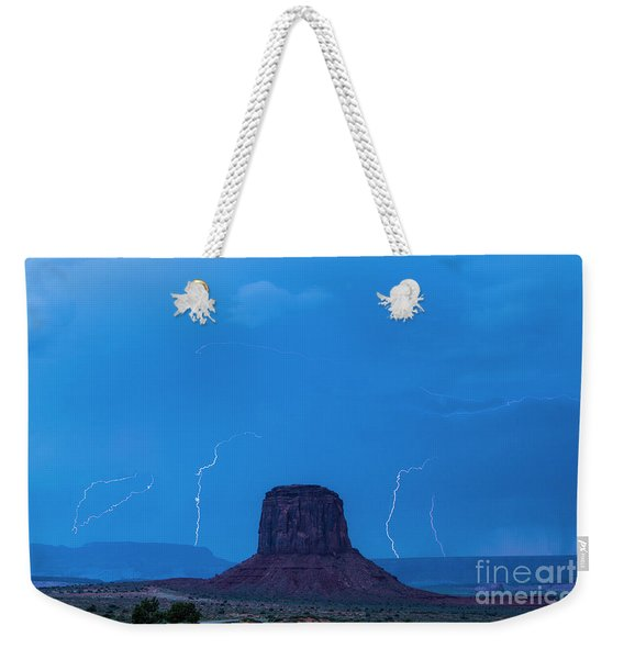 Lightning Weekender Tote Bag
