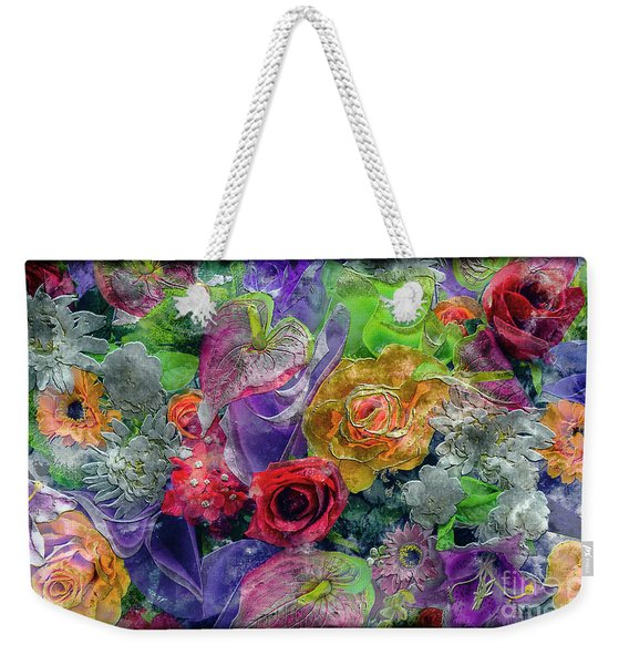 21a Abstract Floral Painting Digital Expressionism Weekender Tote Bag