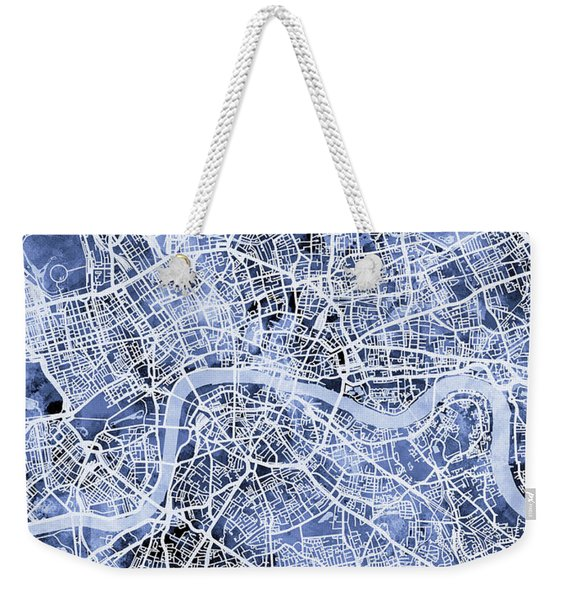 London England Street Map Weekender Tote Bag