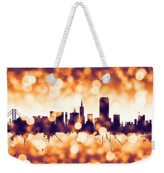 San Francisco City Skyline Weekender Tote Bag