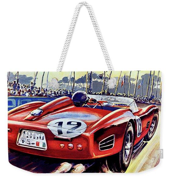 24 Hour Of Le Man, Race Car, Travel Poster Weekender Tote Bag