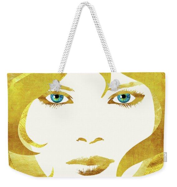 24 Karat Babe, Woman In Gold Fashion Art Weekender Tote Bag